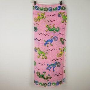 RIMA UnitallA Sarong Lizard pink shawl wrap
